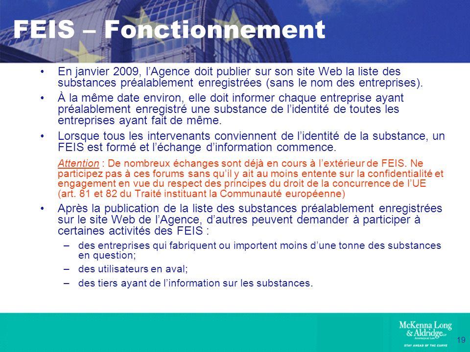FEIS – Fonctionnement