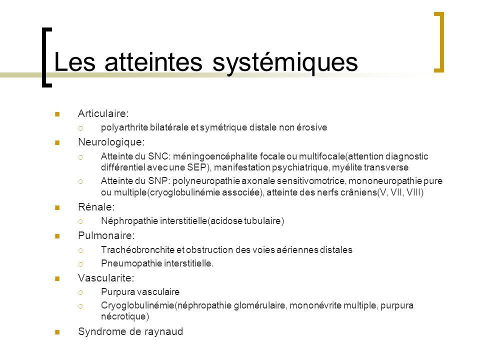 Les atteintes systémiques
