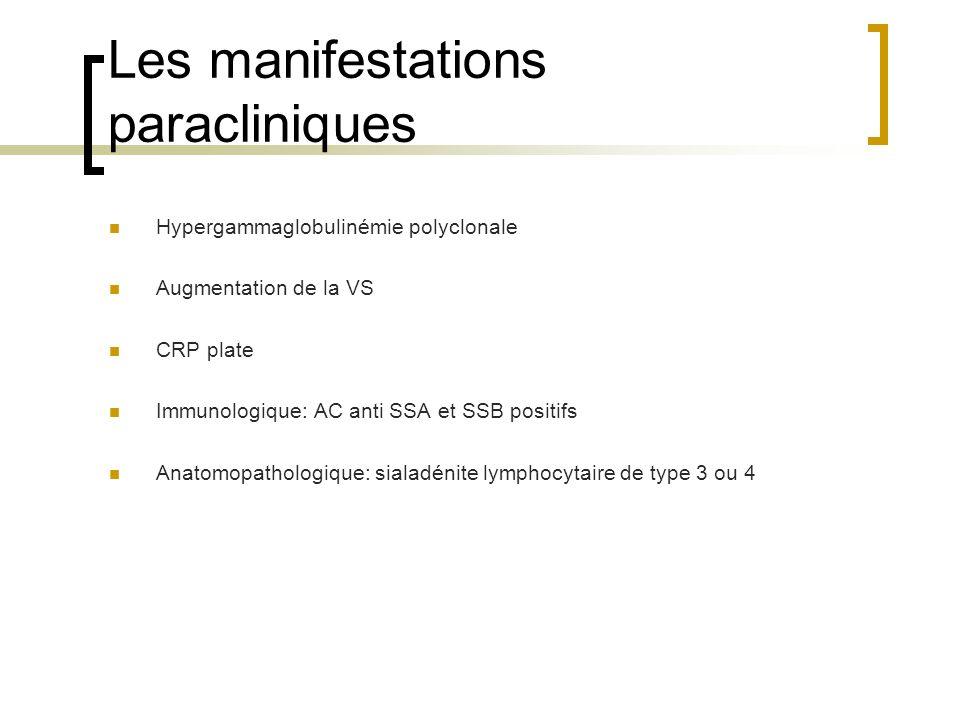 Les manifestations paracliniques
