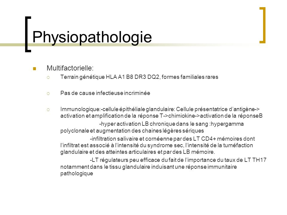 Physiopathologie Multifactorielle: