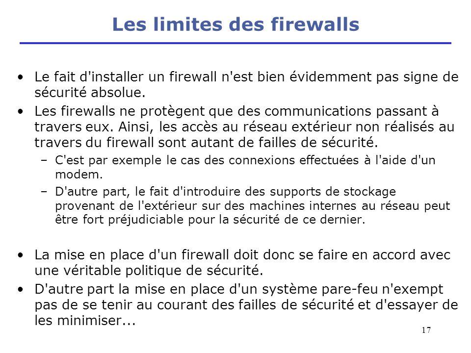 Les limites des firewalls