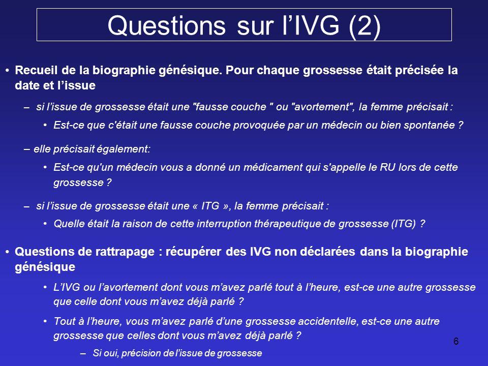 Analyse Confusion de langage et erreurs de classement des IVG