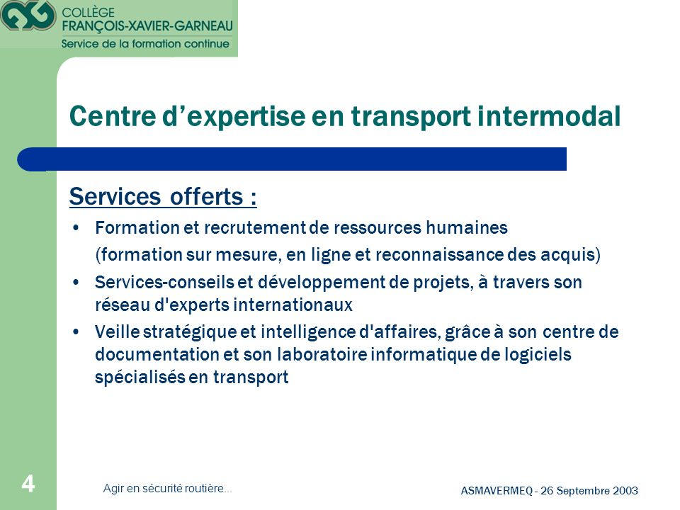 Centre d'expertise en transport intermodal