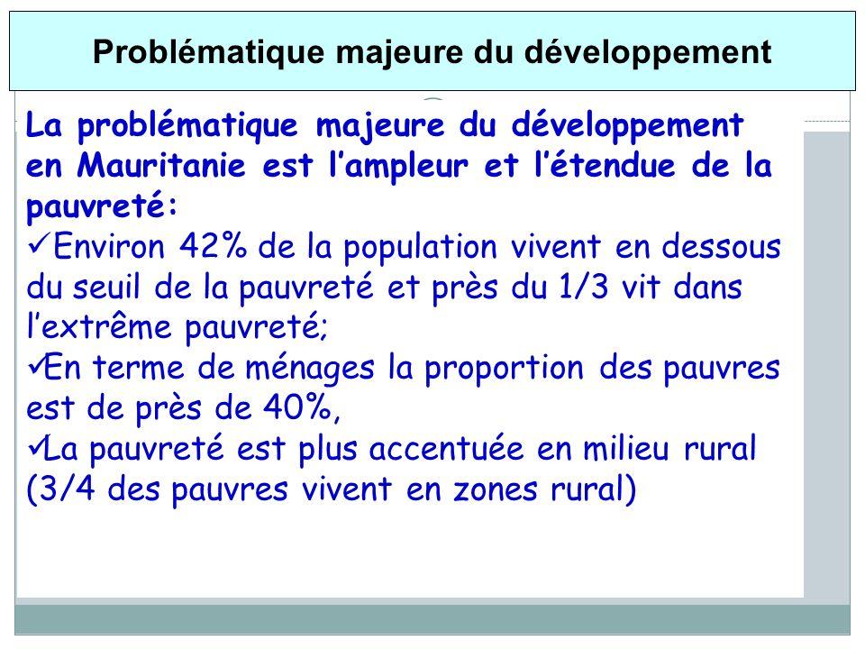 Problématique majeure du développement