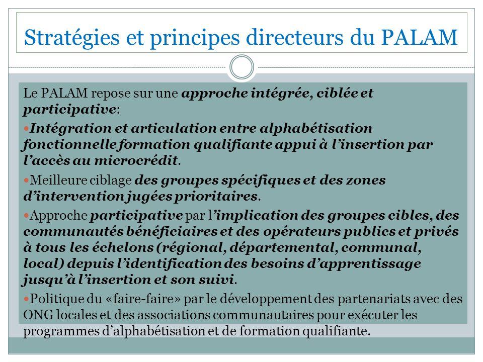 Stratégies et principes directeurs du PALAM
