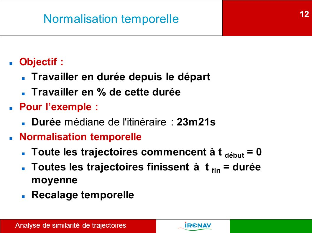 Normalisation temporelle