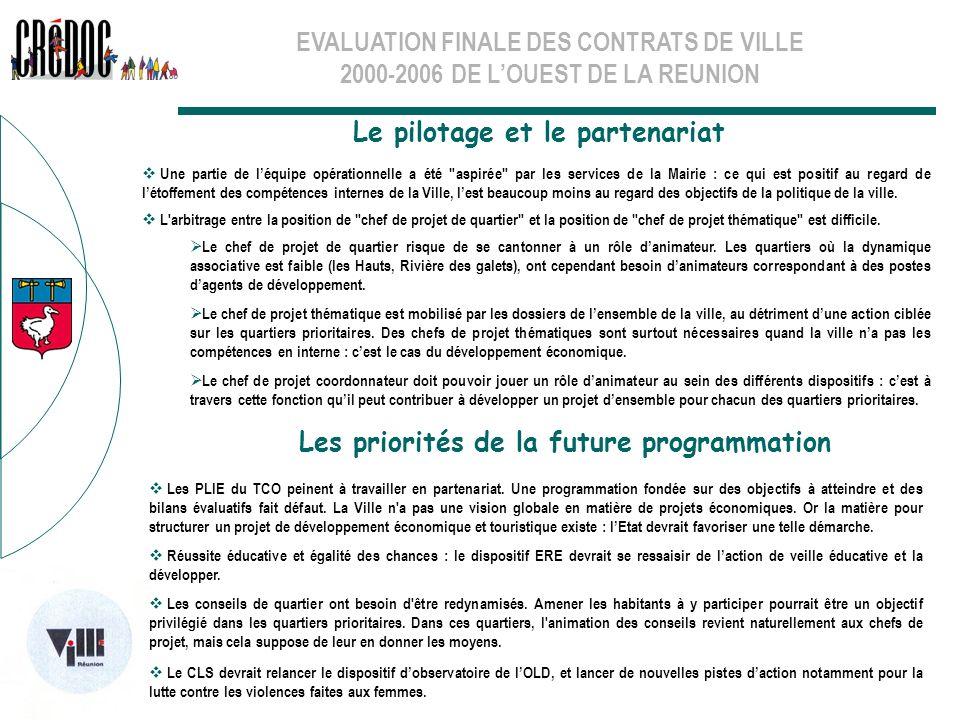 Le pilotage et le partenariat Les priorités de la future programmation