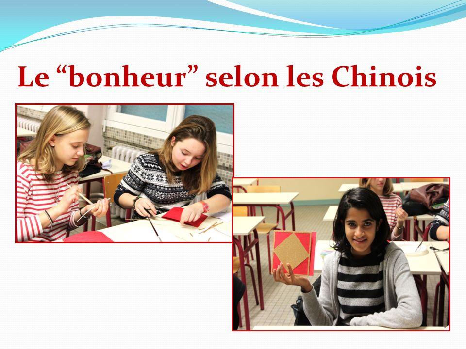 Le bonheur selon les Chinois
