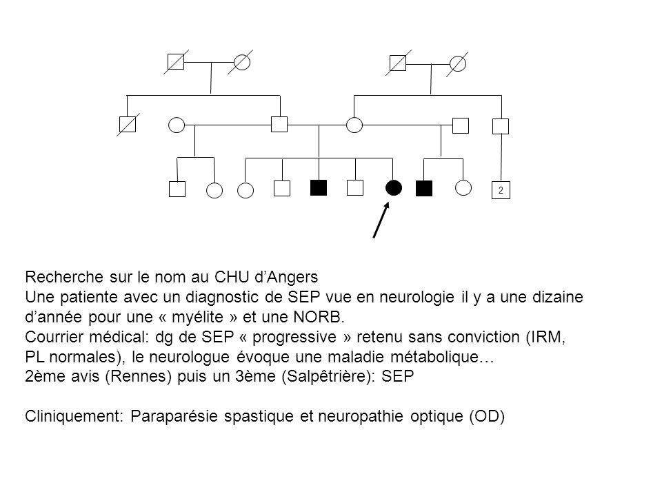 Recherche sur le nom au CHU d'Angers
