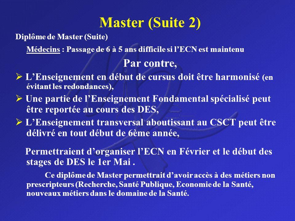Master (Suite 2) Par contre,