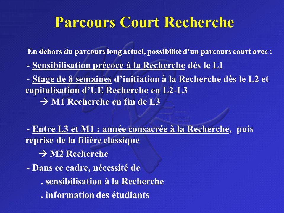 Parcours Court Recherche