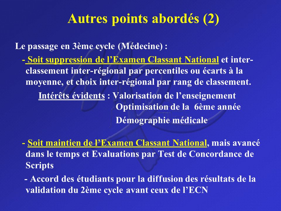 Autres points abordés (2)