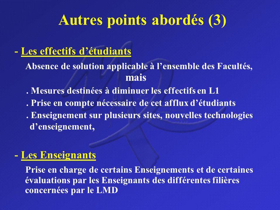 Autres points abordés (3)