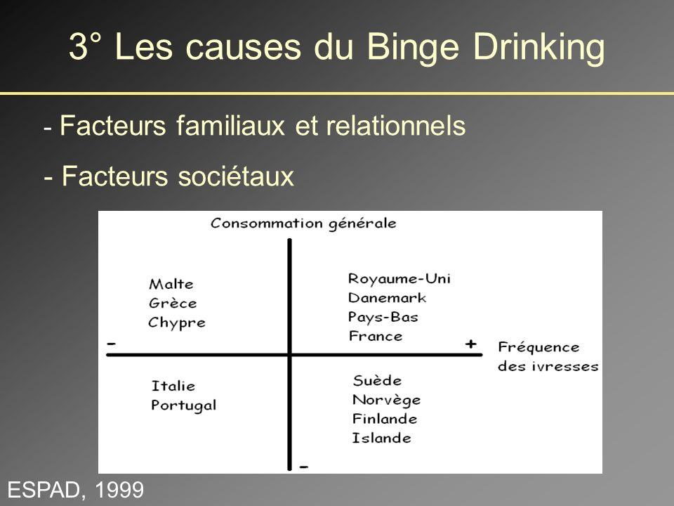 3° Les causes du Binge Drinking