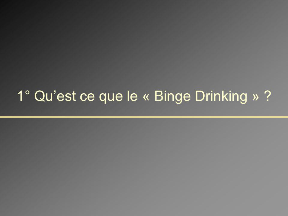 1° Qu'est ce que le « Binge Drinking »