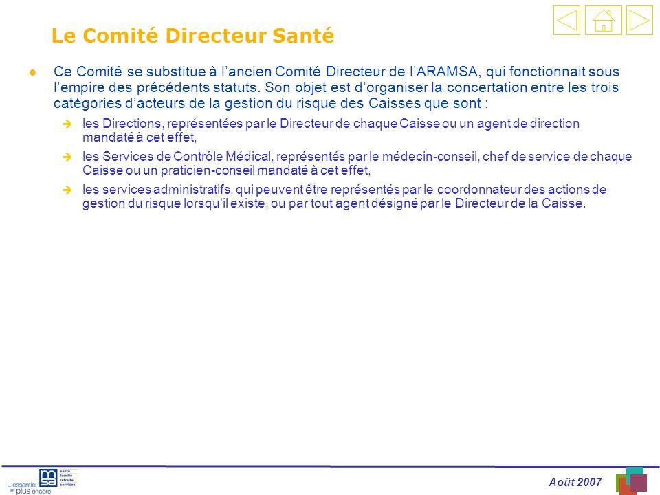 Le Comité Directeur Santé