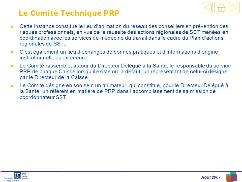 Le Comité Technique PRP
