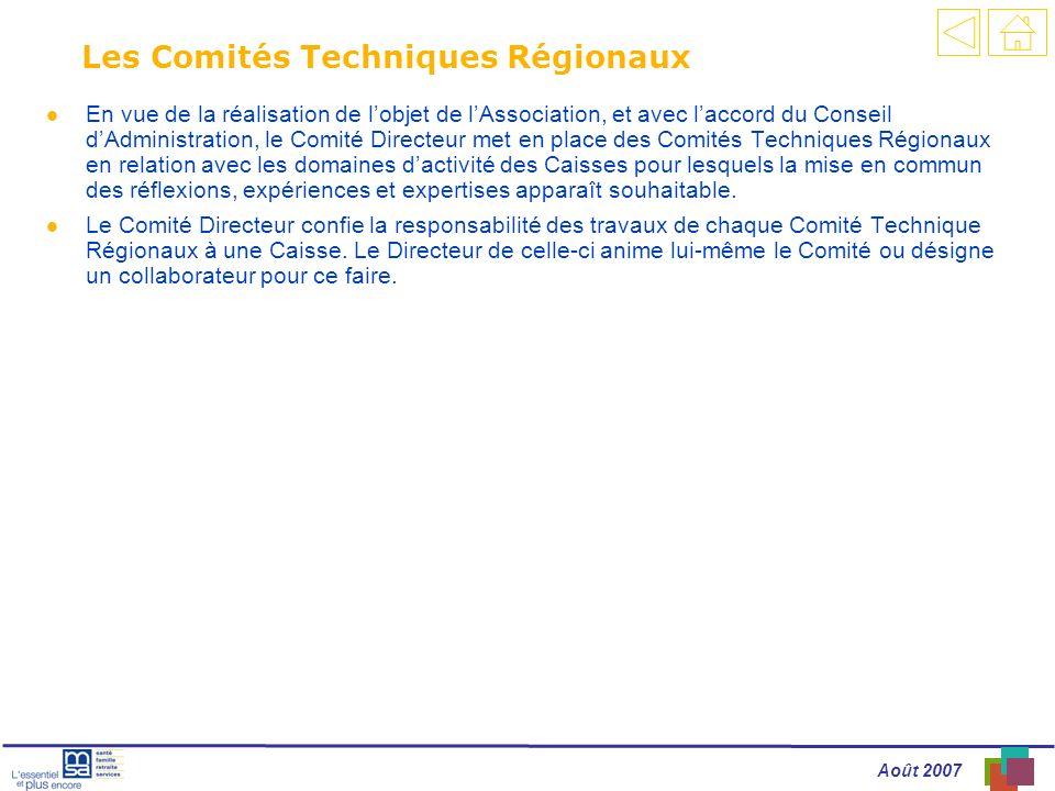 Les Comités Techniques Régionaux