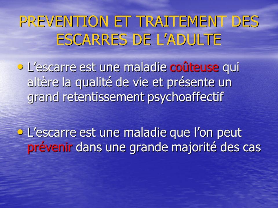L'escarre est une maladie coûteuse qui altère la qualité de vie et présente un grand retentissement psychoaffectif
