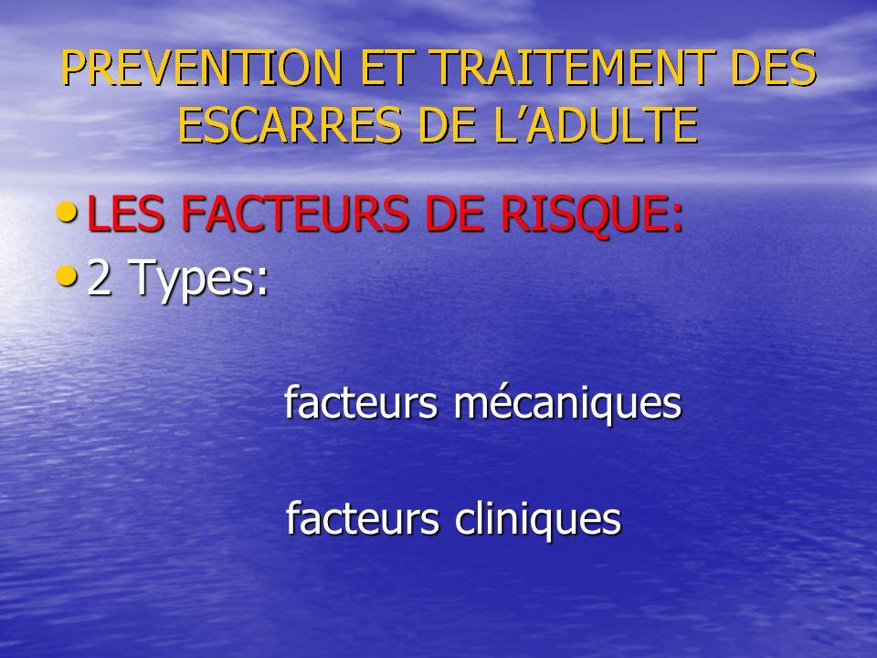 LES FACTEURS DE RISQUE: 2 Types: