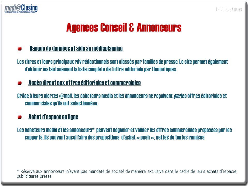Agences Conseil & Annonceurs