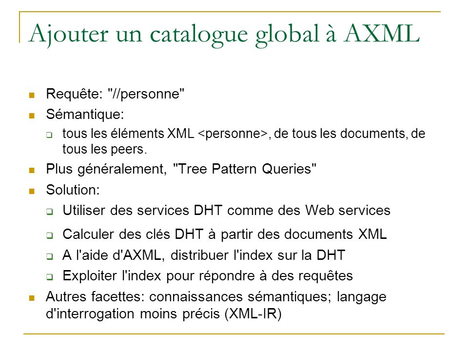 Ajouter un catalogue global à AXML