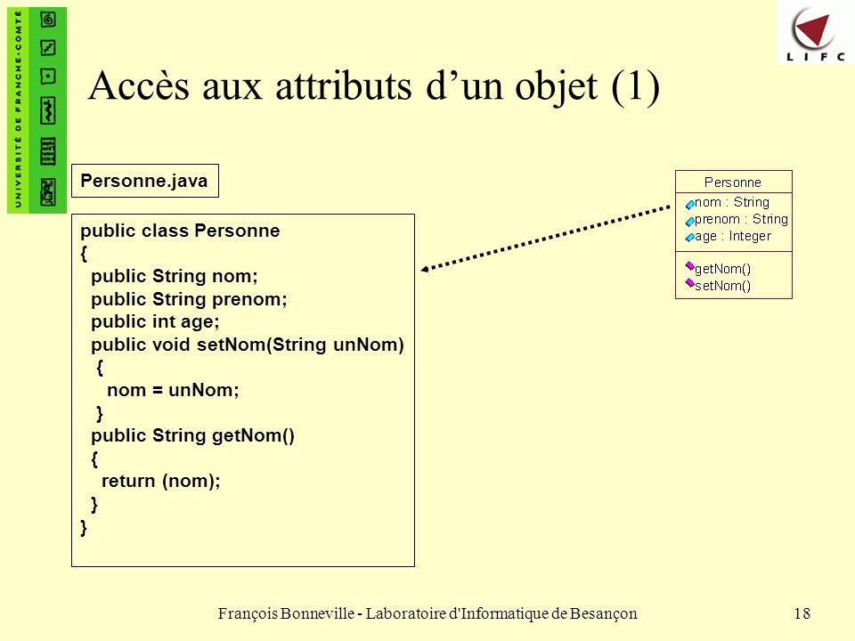Accès aux attributs d'un objet (1)