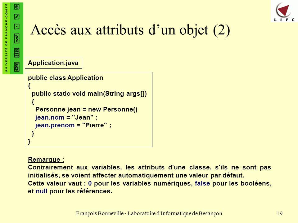 Accès aux attributs d'un objet (2)
