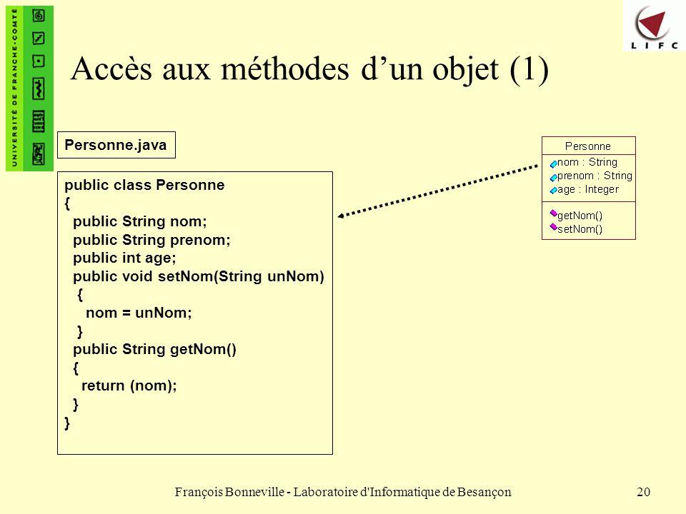 Accès aux méthodes d'un objet (1)