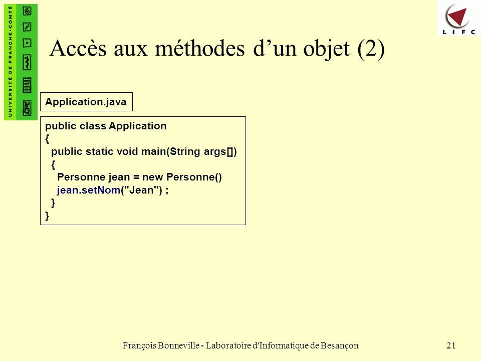 Accès aux méthodes d'un objet (2)