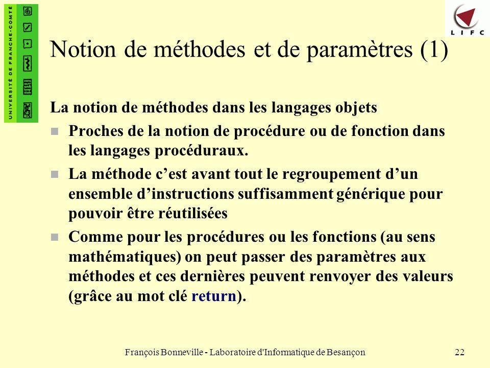 Notion de méthodes et de paramètres (1)