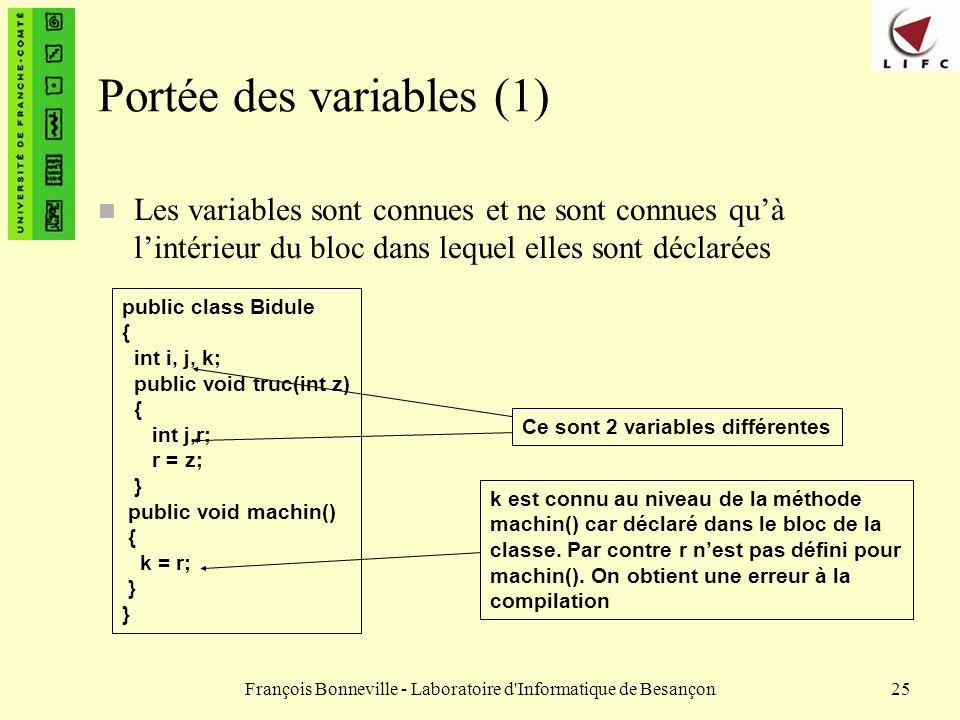 Portée des variables (1)