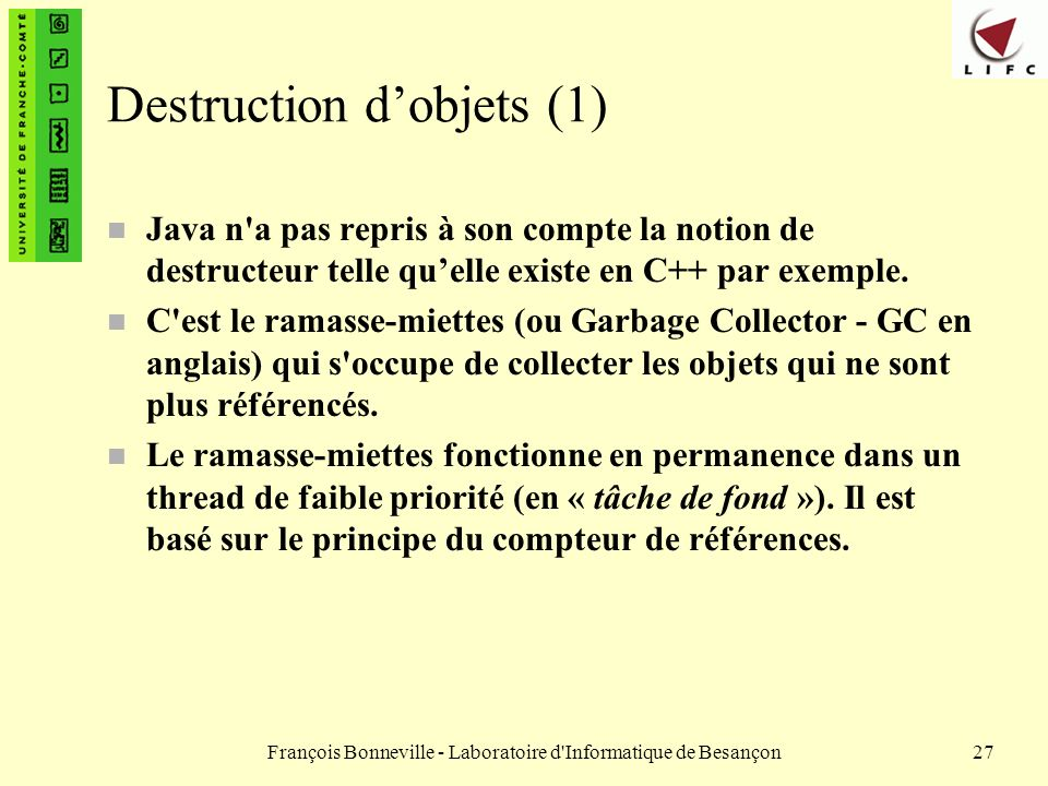Destruction d'objets (1)
