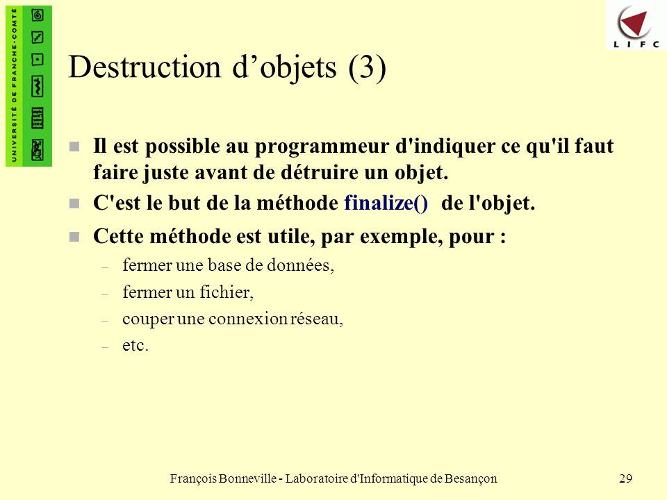 Destruction d'objets (3)
