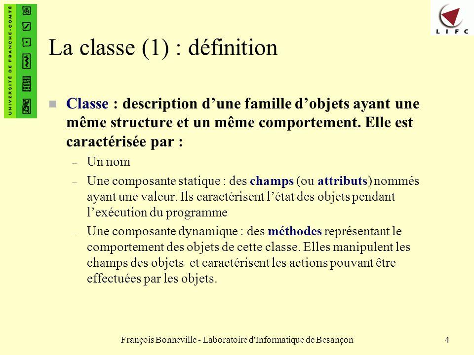 La classe (1) : définition