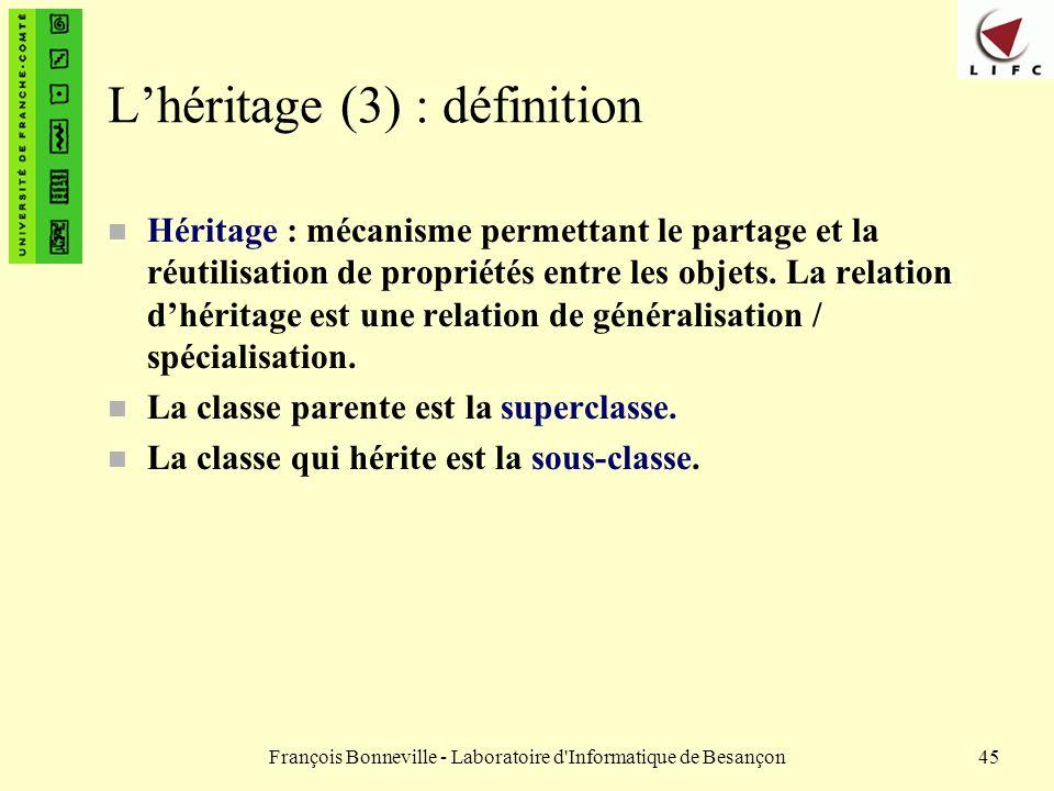 L'héritage (3) : définition