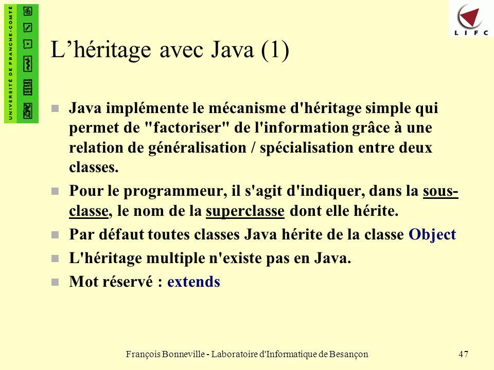 L'héritage avec Java (1)