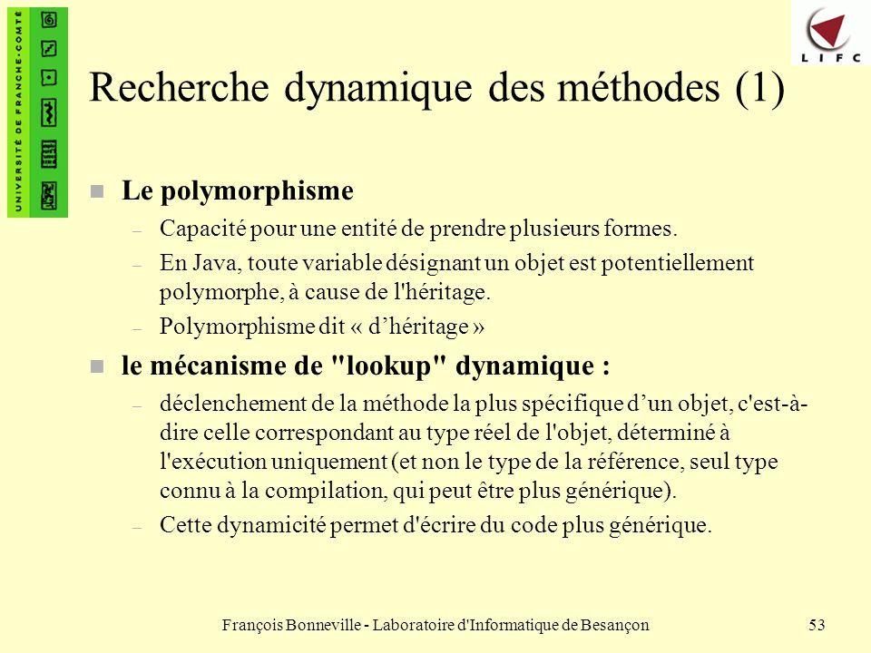 Recherche dynamique des méthodes (1)