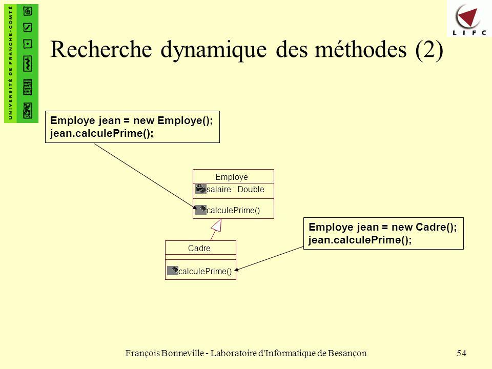 Recherche dynamique des méthodes (2)