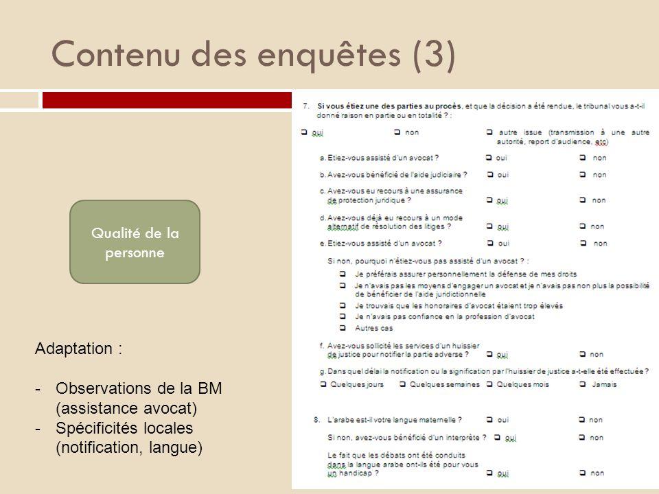 Contenu des enquêtes (3)