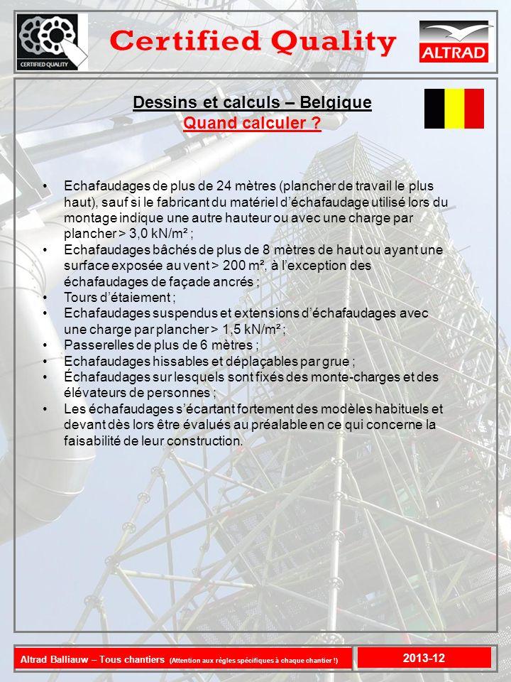 Dessins et calculs – Belgique