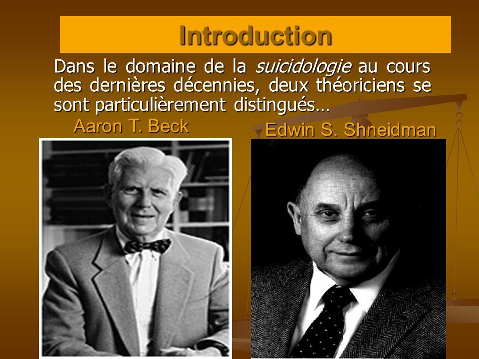 Introduction Dans le domaine de la suicidologie au cours des dernières décennies, deux théoriciens se sont particulièrement distingués…