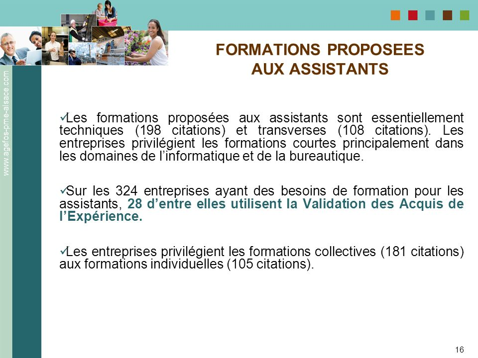FORMATIONS PROPOSEES AUX ASSISTANTS