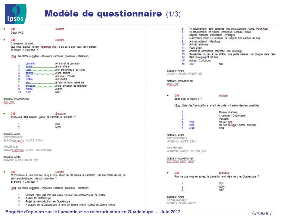 Modèle de questionnaire (2/3)