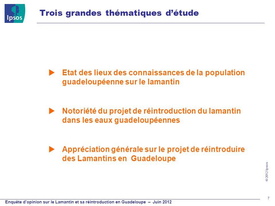 Etat des lieux des connaissances de la population guadeloupéenne sur le lamantin