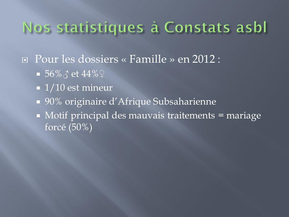 Nos statistiques à Constats asbl