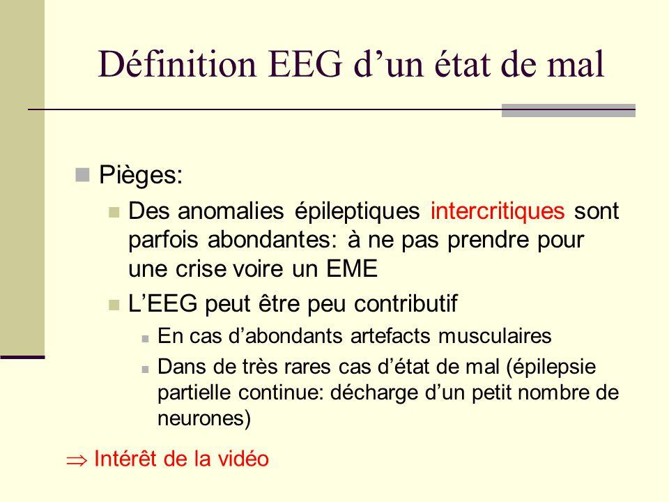 Définition EEG d'un état de mal