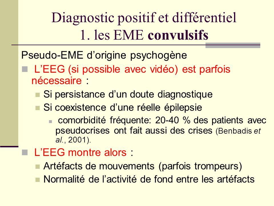 Diagnostic positif et différentiel 1. les EME convulsifs