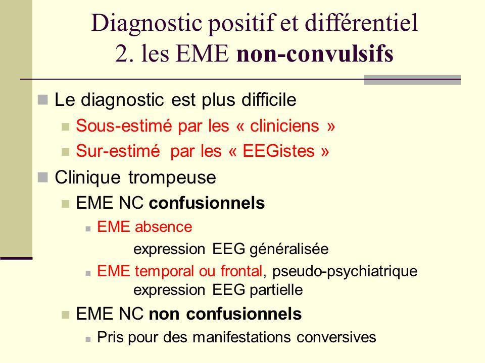Diagnostic positif et différentiel 2. les EME non-convulsifs