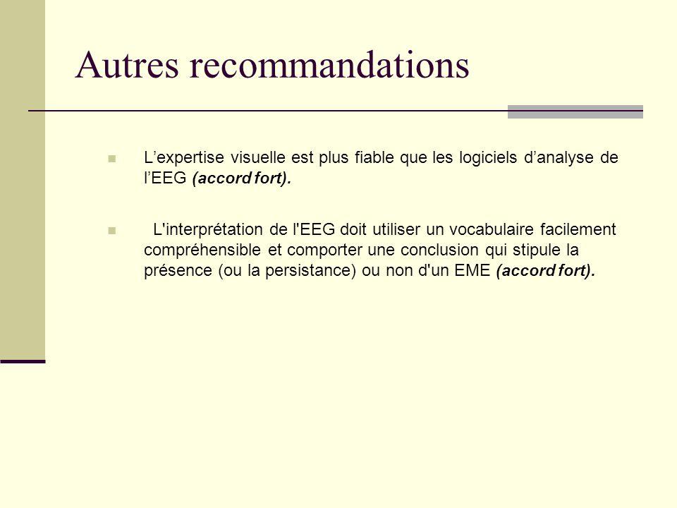 Autres recommandations